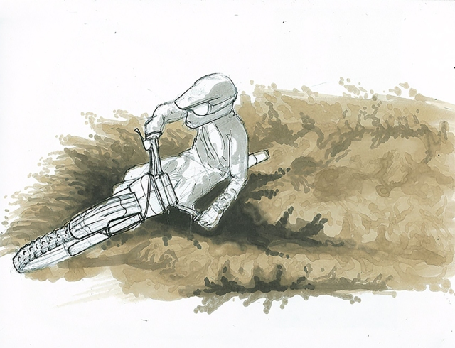 motorcyle drifting sketch