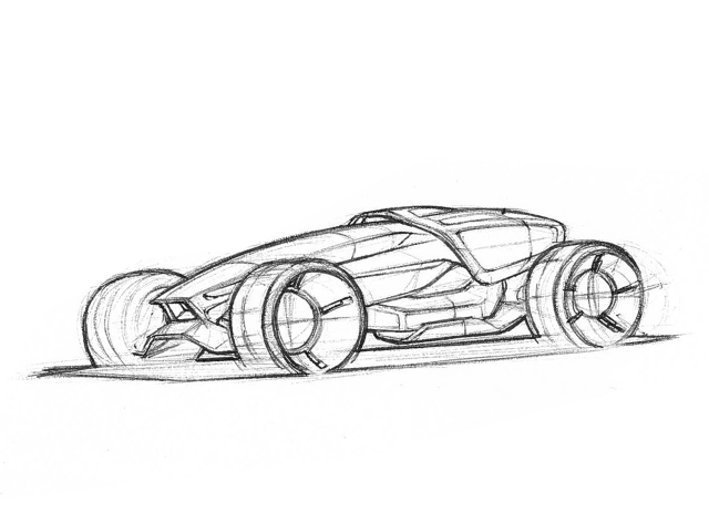 Sacha N\'diaye, Concept Car Sketch | Vehicle Design at Humber